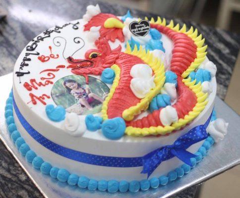 bánh sinh nhật hình chú rồng